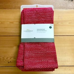Threshold cloth napkins red silver Christmas